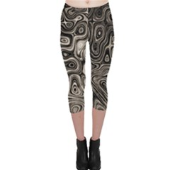Tile Reflections Alien Skin Dark Capri Leggings