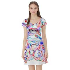 Soul Colour Light Short Sleeve Skater Dresses