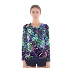 Colour Play Flowers Women s Long Sleeve T-shirts
