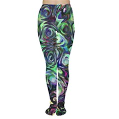 Colour Play Flowers Women s Tights