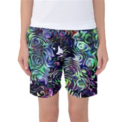 Colour Play Flowers Women s Basketball Shorts