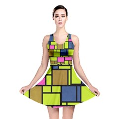 Squares And Rectangles Reversible Skater Dress
