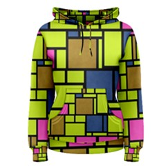 Squares And Rectangles Pullover Hoodie