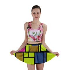 Squares and rectangles Mini Skirt