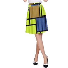 Squares And Rectangles A Line Skirt