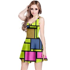 Squares and rectangles Sleeveless Dress