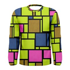 Squares and rectangles Men Long Sleeve T-shirt
