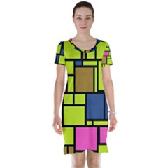 Squares and rectangles Short Sleeve Nightdress
