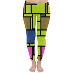 Squares and rectangles Winter Leggings