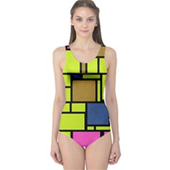 Squares And Rectangles Women s One Piece Swimsuit