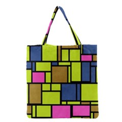 Squares And Rectangles Grocery Tote Bag