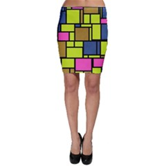Squares and rectangles Bodycon Skirt