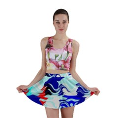 Wavy Chaos Mini Skirt