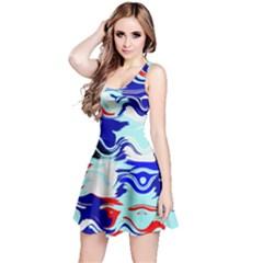 Wavy chaos Sleeveless Dress