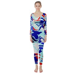 Wavy Chaos  Long Sleeve Catsuit