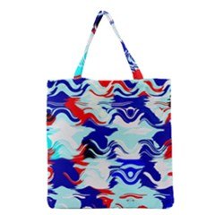Wavy chaos Grocery Tote Bag
