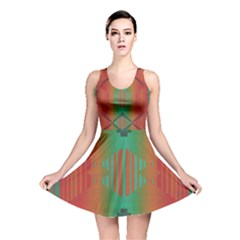 Striped tribal pattern Reversible Skater Dress