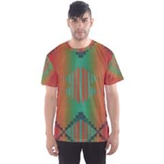 Striped tribal pattern Men s Sport Mesh Tee