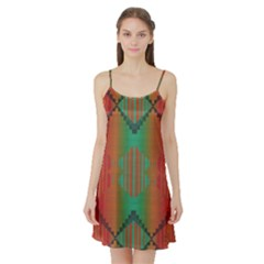 Striped tribal pattern Satin Night Slip