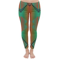 Striped tribal pattern Winter Leggings