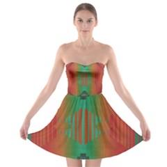 Striped tribal pattern Strapless Bra Top Dress