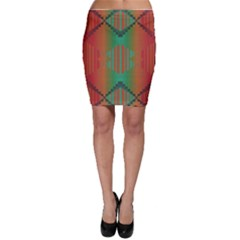 Striped tribal pattern Bodycon Skirt