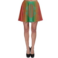 Striped tribal pattern Skater Skirt