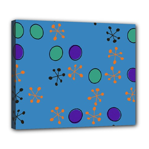 Circles And Snowflakes Deluxe Canvas 24  X 20  (stretched)