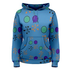 Circles and snowflakes Pullover Hoodie
