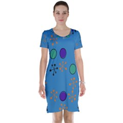 Circles and snowflakes Short Sleeve Nightdress