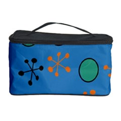 Circles And Snowflakes Cosmetic Storage Case