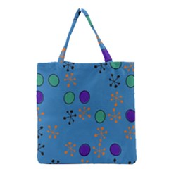 Circles and snowflakes Grocery Tote Bag