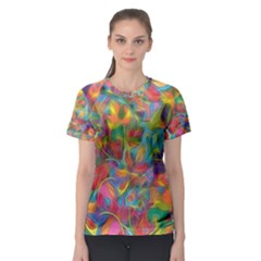 Colorful Autumn Women s Sport Mesh Tee