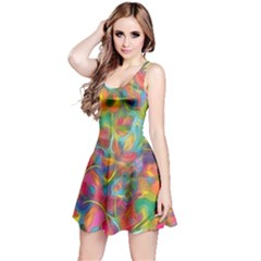 Colorful Autumn Reversible Sleeveless Dress