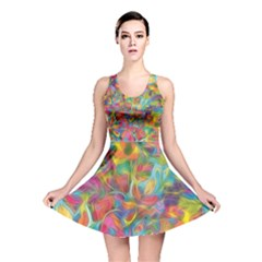 Colorful Autumn Reversible Skater Dress
