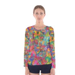 Colorful Autumn Women s Long Sleeve T Shirt