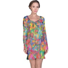 Colorful Autumn Long Sleeve Nightdress
