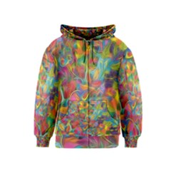 Colorful Autumn Kids Zipper Hoodie