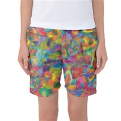Colorful Autumn Women s Basketball Shorts