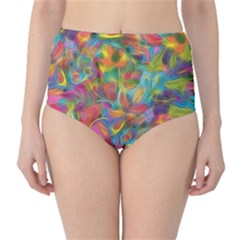 Colorful Autumn High-Waist Bikini Bottoms