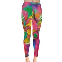 Colorful Floral Abstract Painting Leggings