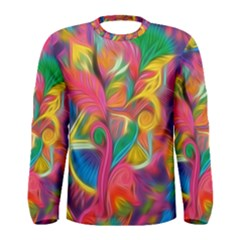 Colorful Floral Abstract Painting Men s Long Sleeve T-shirt