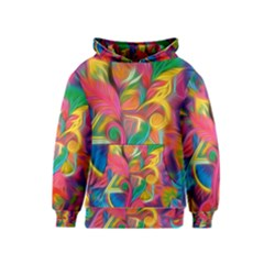 Colorful Floral Abstract Painting Kid s Pullover Hoodie