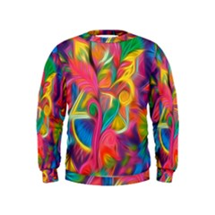 Colorful Floral Abstract Painting Kid s Sweatshirt