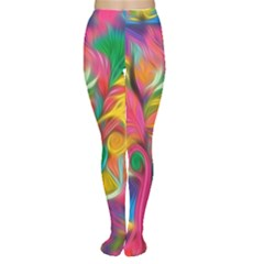 Colorful Floral Abstract Painting Tights