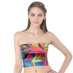 Colorful Floral Abstract Painting Tube Top