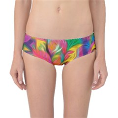 Colorful Floral Abstract Painting Classic Bikini Bottoms
