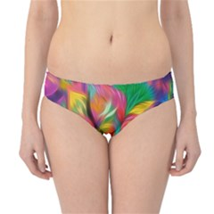 Colorful Floral Abstract Painting Hipster Bikini Bottoms