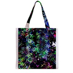 Colour Play Flowers Grocery Tote Bags