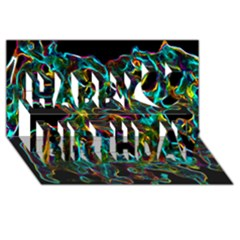 Soul Colour Happy Birthday 3D Greeting Card (8x4)